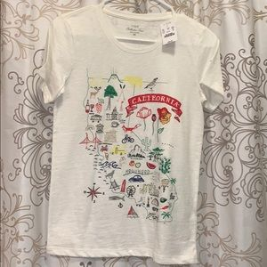 NWT J Crew California Tee Shirt